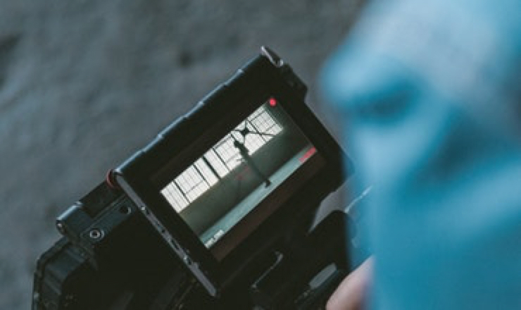 the screen of a digital camera